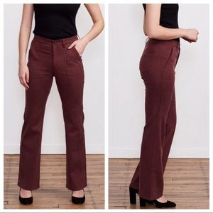 NWT BRASS Scout Wine cordovan trouser pant